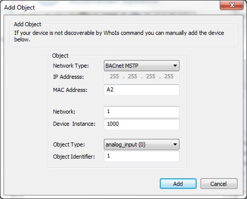 Add MSTP Slave Device