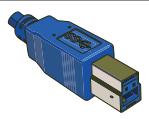 USB Type B 9 Pin