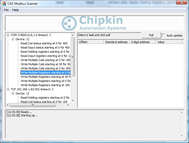 CAS Modbus Scanner - Chipkin Automation Systems