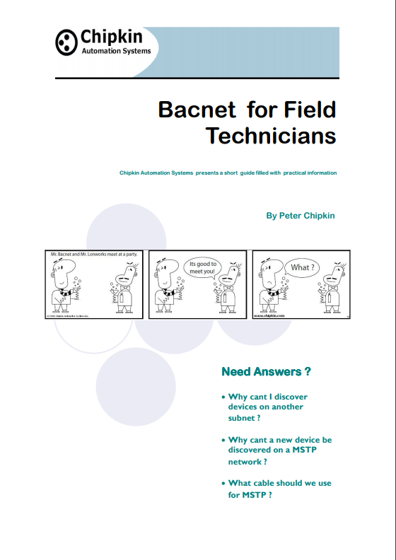 bacnet for field technicians (free!)
