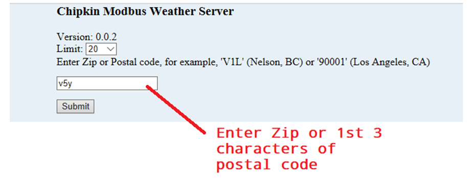 Modbus Weather Servers and Weather Condition Enumerations - Chipkin