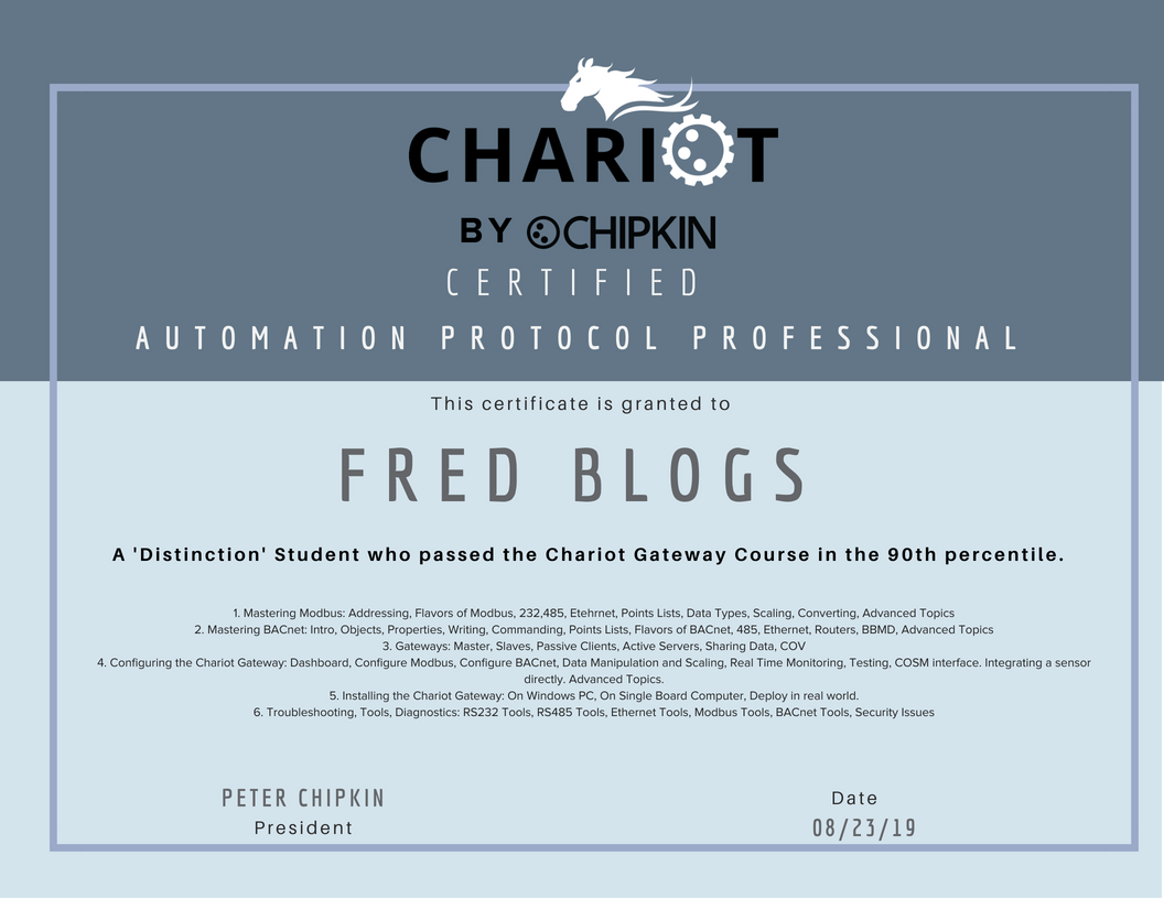 Chariot Gateway Course - Free Industrial Automation Training